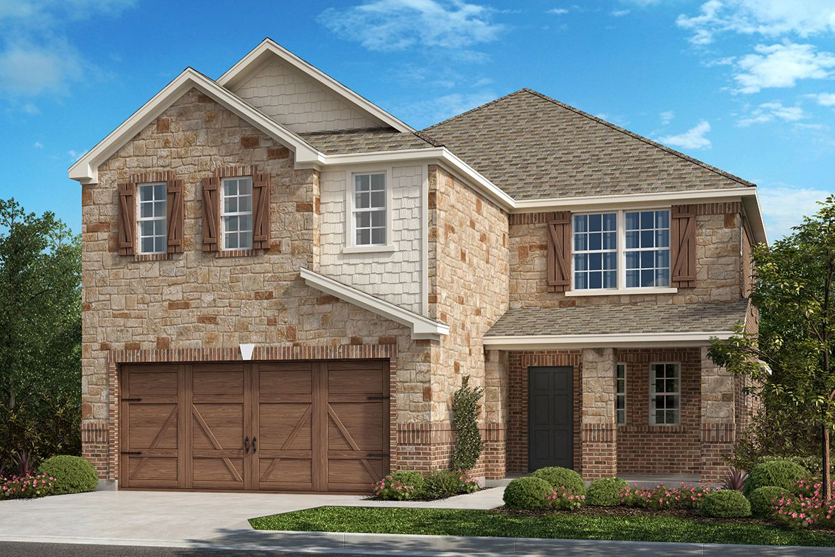 Exterior featured in the Plan 2675 By KB Home in Dallas, TX