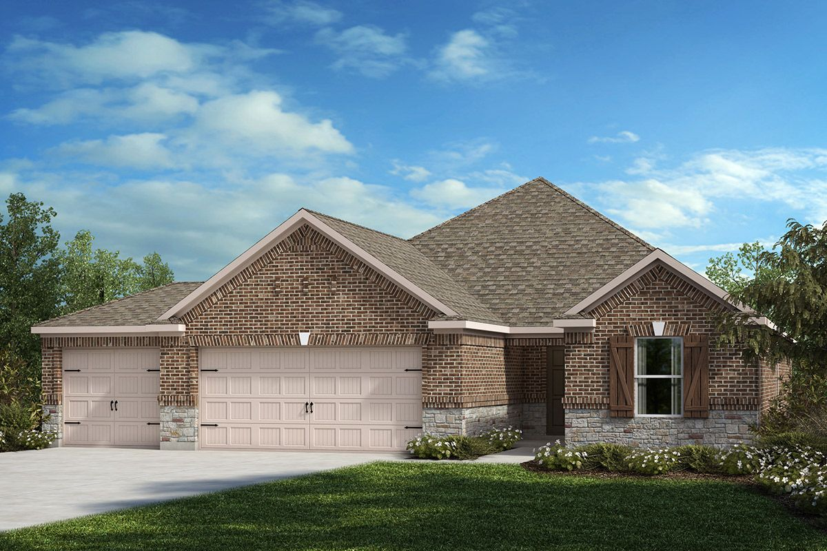 Exterior featured in the Plan 1813 By KB Home in Fort Worth, TX