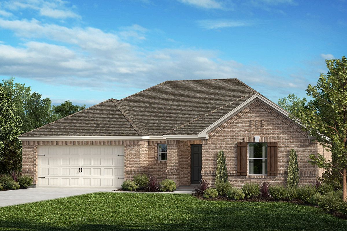Exterior featured in the Plan 2091 By KB Home in Fort Worth, TX