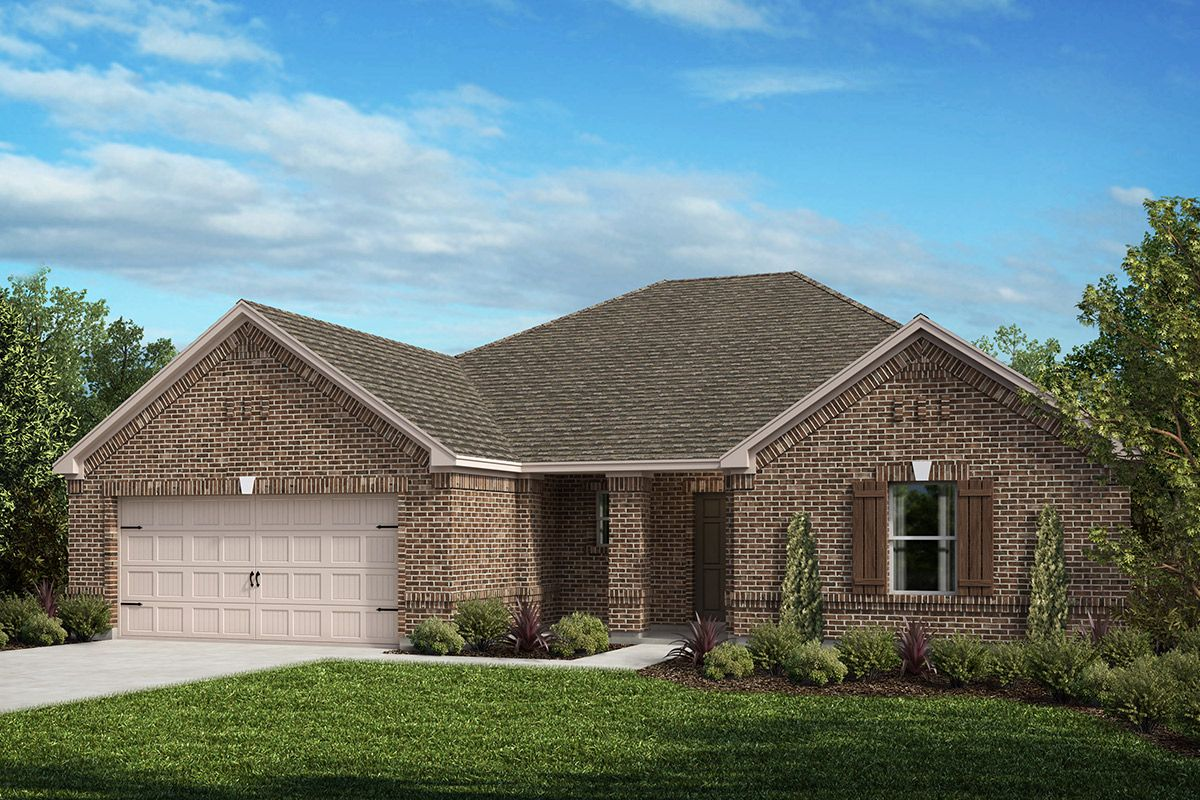 Exterior featured in the Plan 2321 By KB Home in Fort Worth, TX