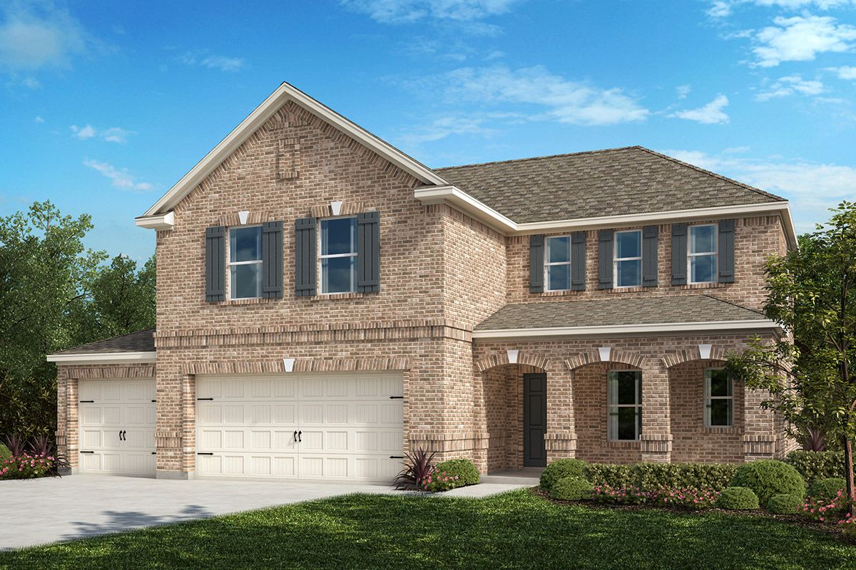 Exterior featured in the Plan 2547 By KB Home in Fort Worth, TX