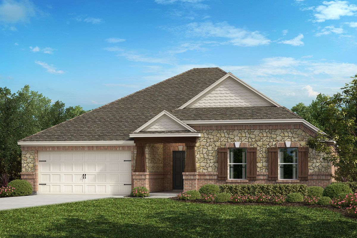 Exterior featured in the Plan 2586 By KB Home in Fort Worth, TX