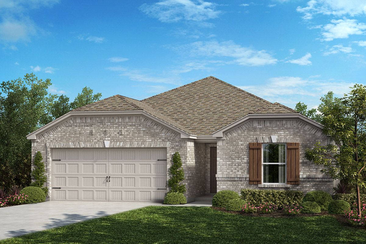 Exterior featured in the Plan 1709 By KB Home in Fort Worth, TX