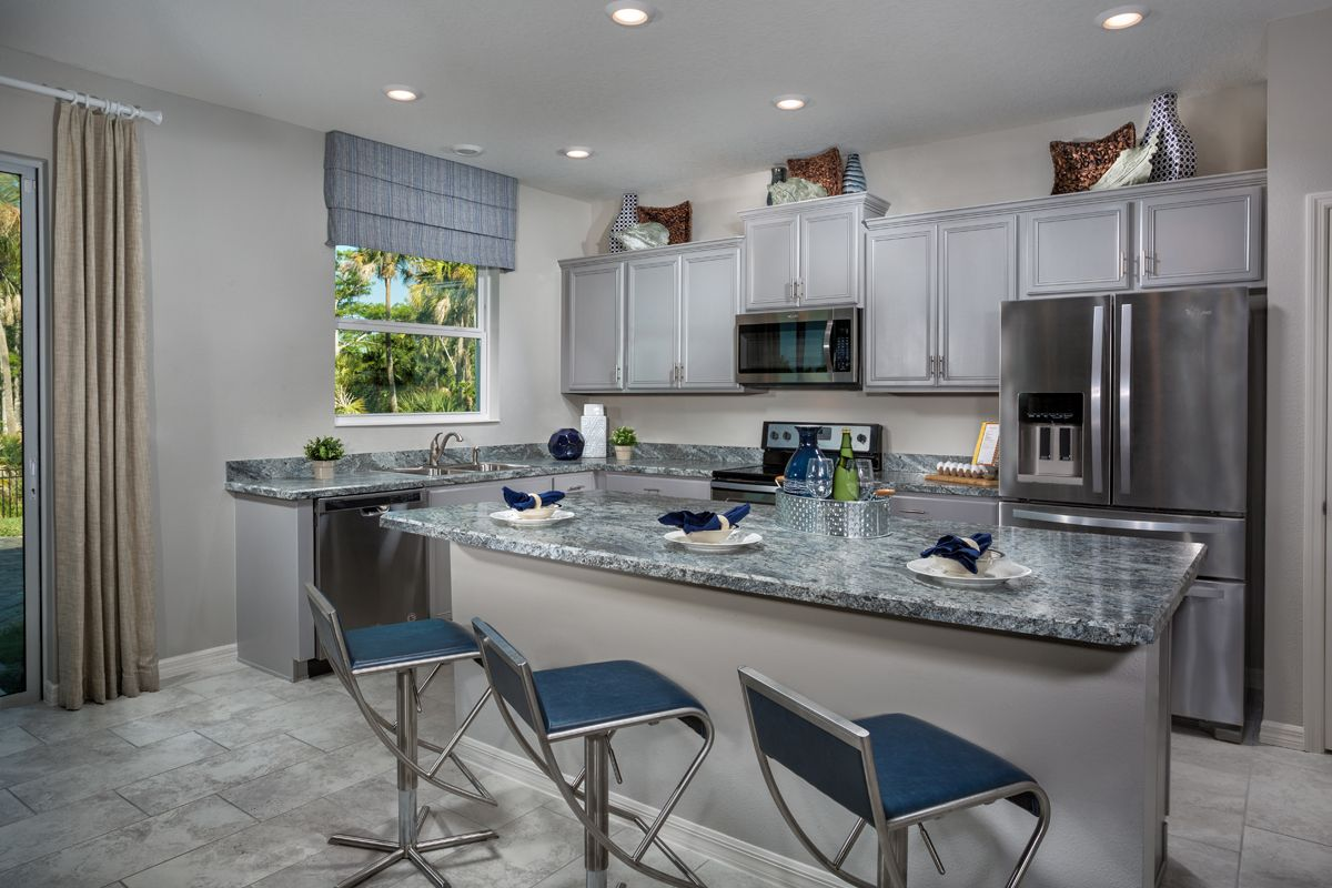 Kitchen-in-Plan 1769 Modeled-at-Coves of Estero Bay-in-Fort Myers