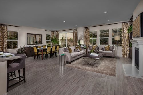 Greatroom-and-Dining-in-Residence 2414 Modeled-at-Arroyo Vista at the Woodlands-in-Simi Valley