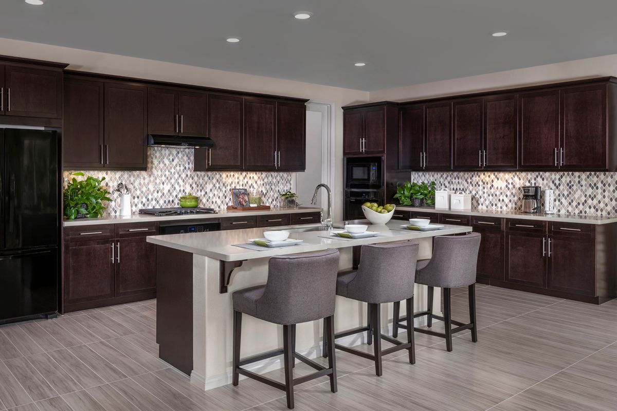 Kitchen-in-Residence 2414 Modeled-at-Arroyo Vista at the Woodlands-in-Simi Valley