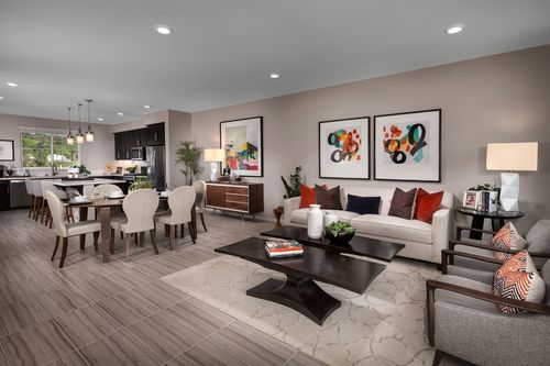 Greatroom-and-Dining-in-Residence Two Modeled-at-Mariposa at Springville-in-Camarillo