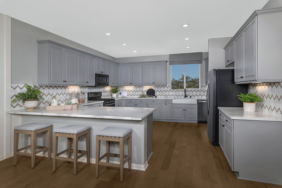 Kitchen featured in the Plan 2258 Modeled By KB Home in Los Angeles, CA