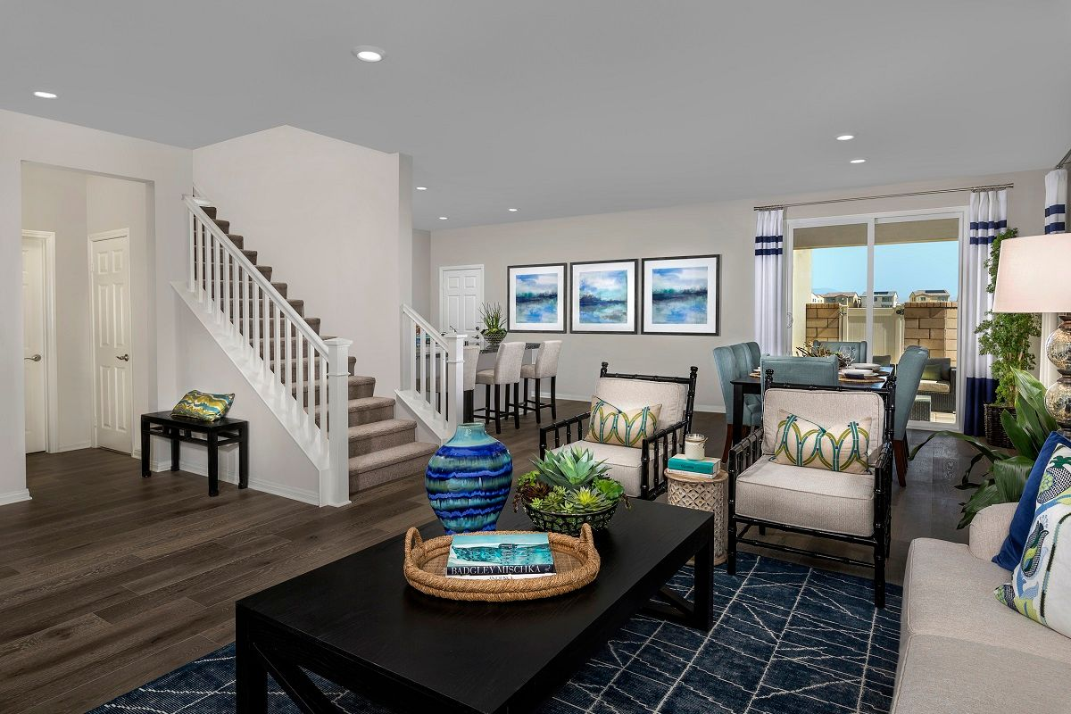 Greatroom-and-Dining-in-Residence 2479 Modeled-at-Willowmore at Park Place-in-Ontario