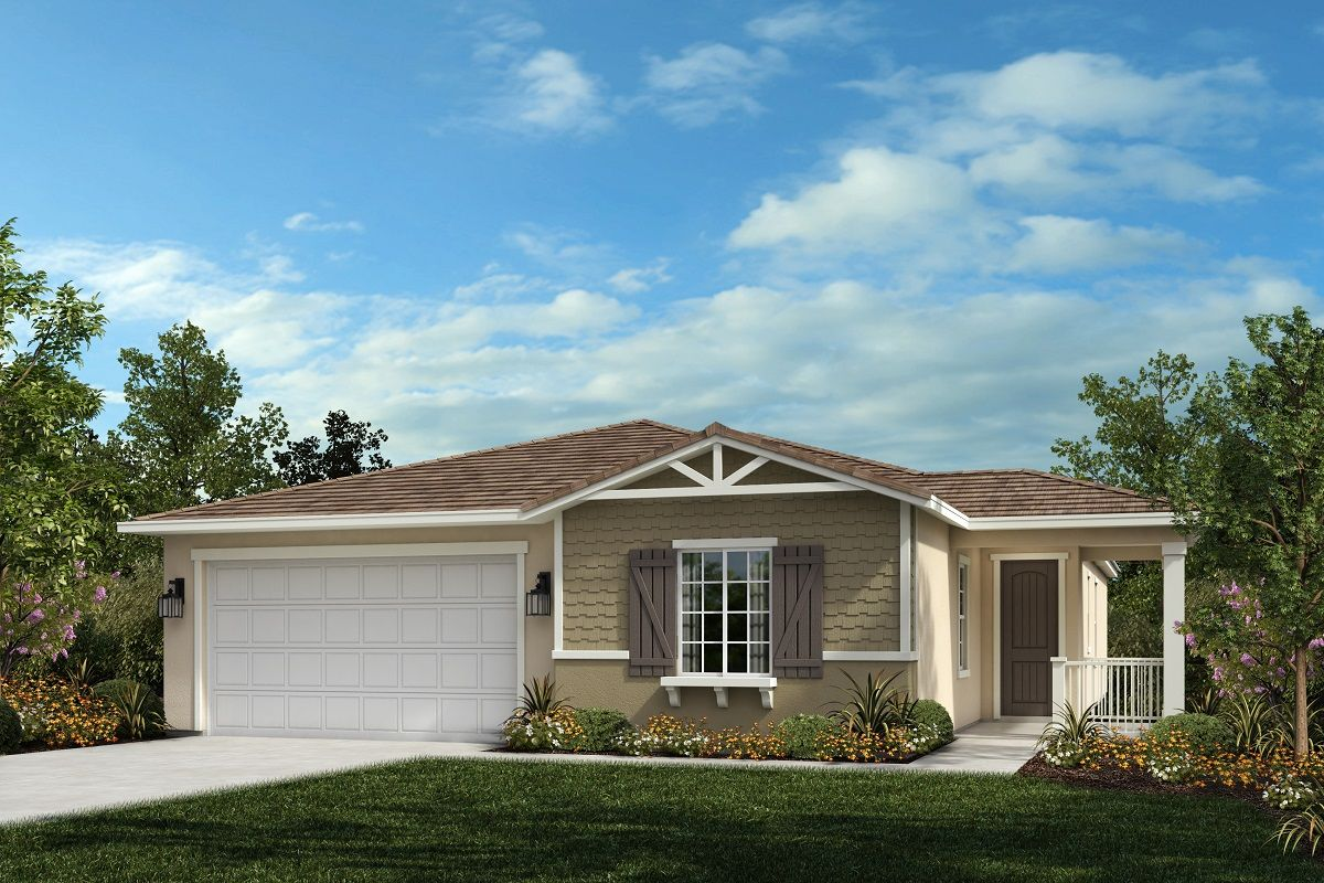 Exterior featured in the Residence 2048 By KB Home in Riverside-San Bernardino, CA