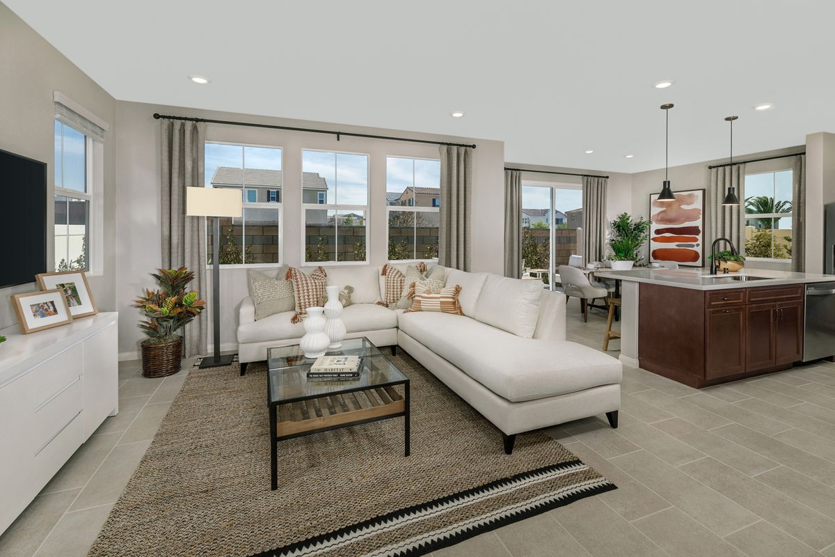 Living Area featured in the Plan 1741 Modeled By KB Home in Riverside-San Bernardino, CA