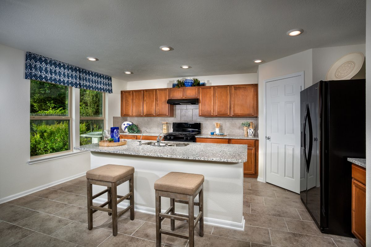 Kitchen-in-Plan 2596 Modeled-at-Cayden Creek-in-Conroe