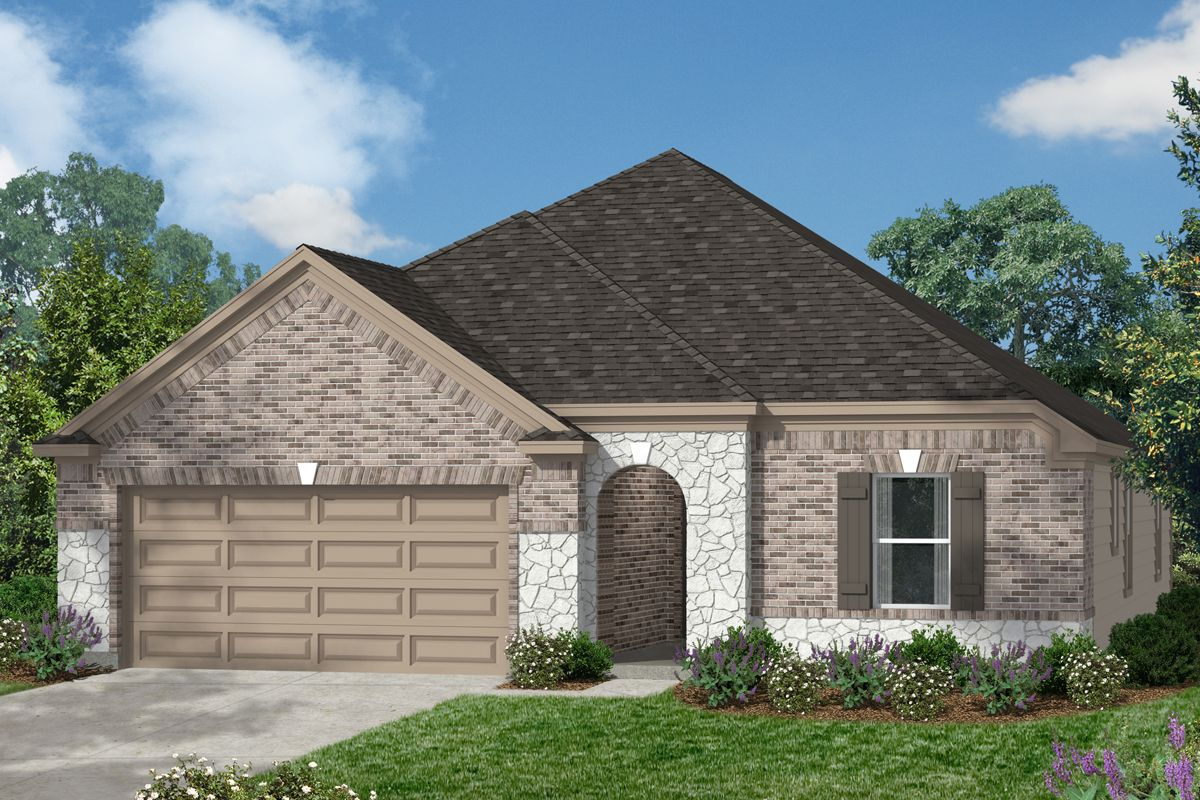 Exterior featured in the Plan 1675 By KB Home in Houston, TX