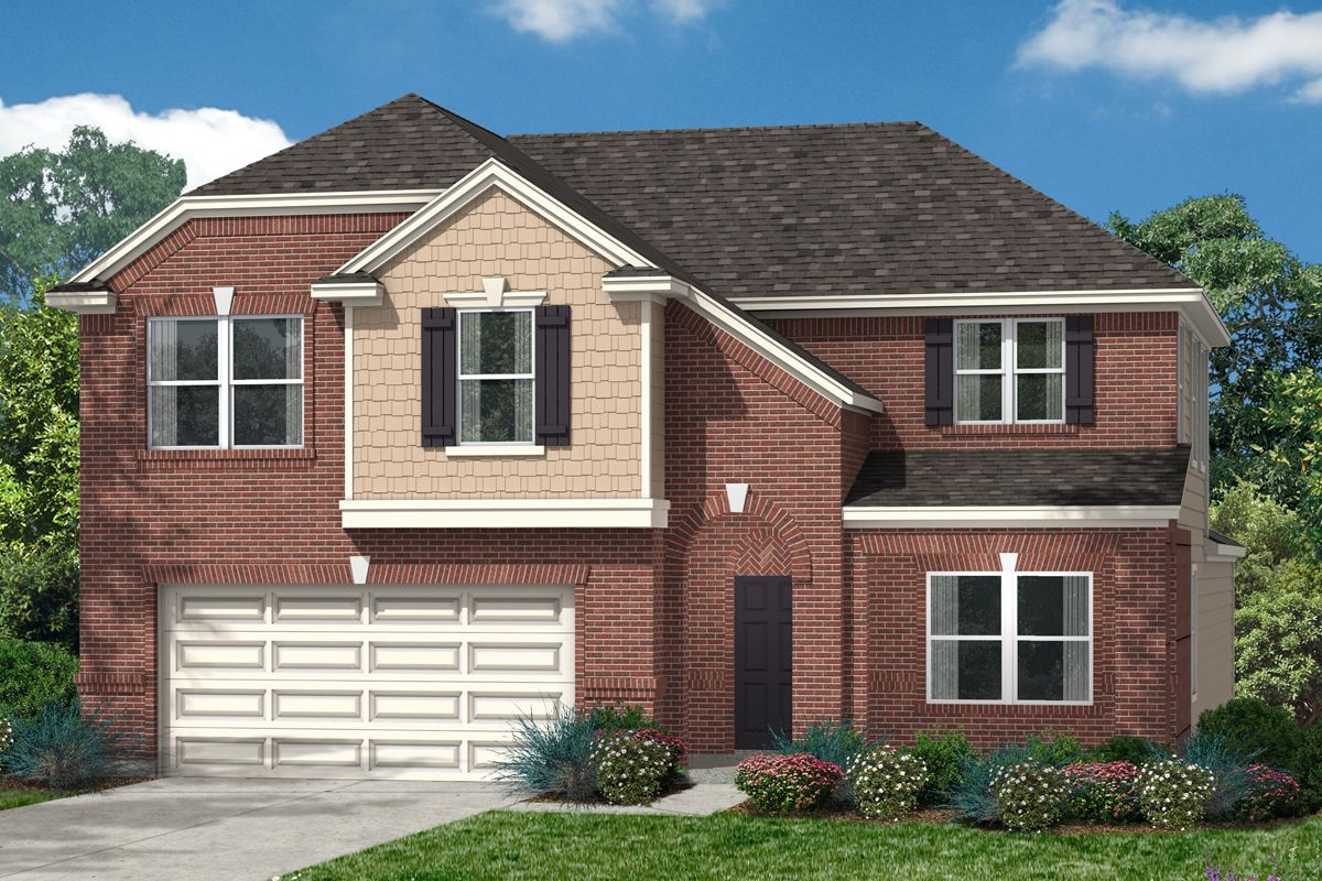 Exterior featured in the Plan 2715 By KB Home in Houston, TX