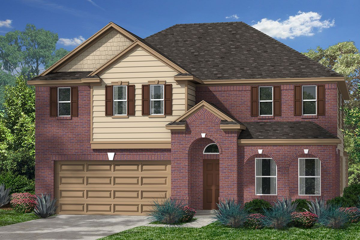 Exterior featured in the Plan 3028 By KB Home in Houston, TX