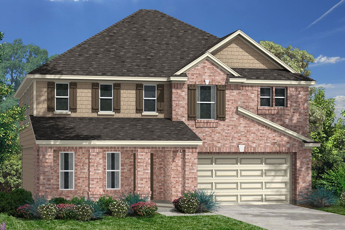 Exterior featured in the Plan 2478 Modeled By KB Home in Houston, TX