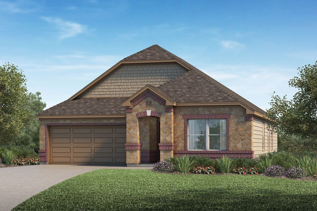 Exterior featured in the Plan 1491 By KB Home in Houston, TX