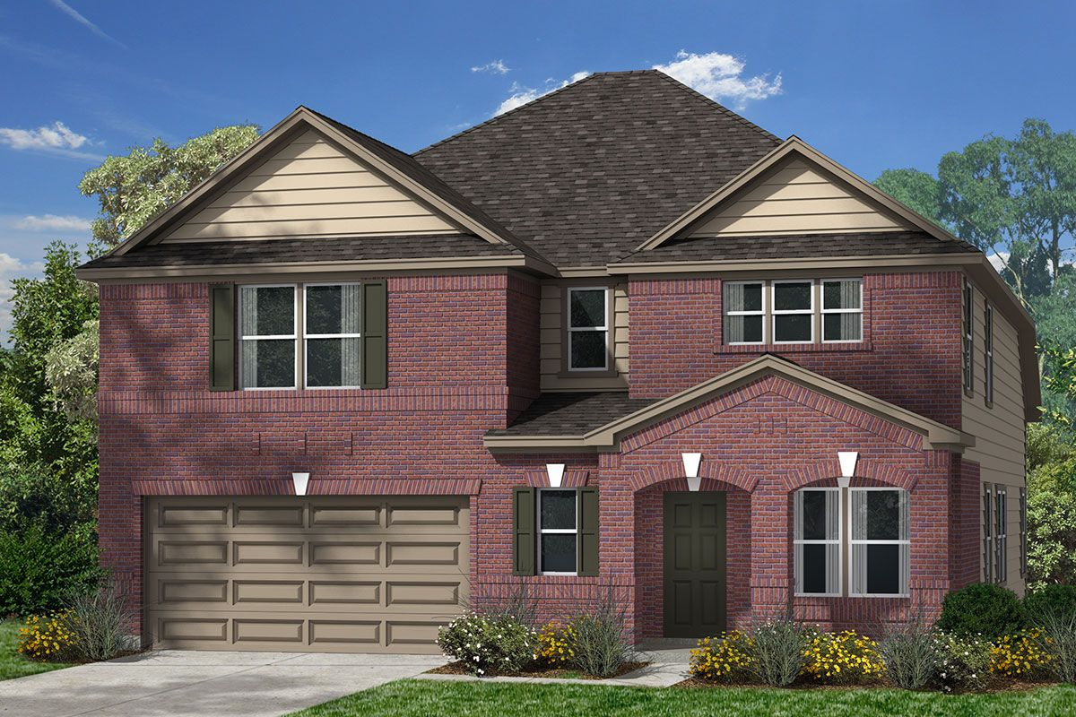 Exterior featured in the Plan 2590 By KB Home in Houston, TX