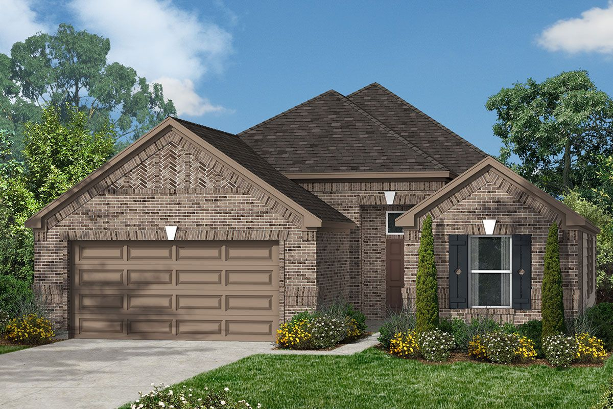 Exterior featured in the Plan 1836 By KB Home in Houston, TX