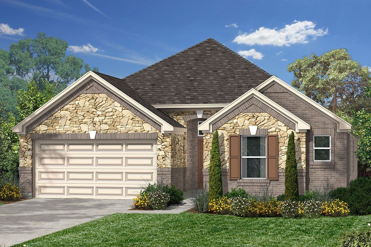 Exterior featured in the Plan 2314 By KB Home in Houston, TX