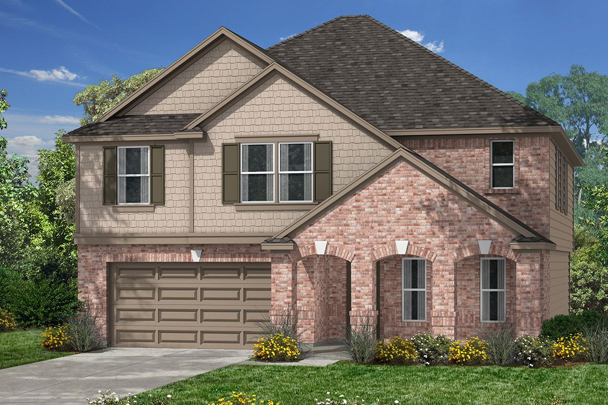 Exterior featured in the Plan 2478 By KB Home in Houston, TX