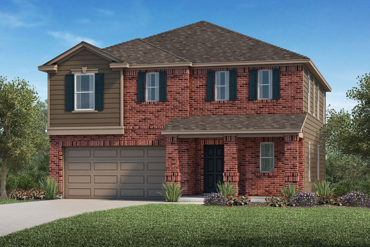 Exterior featured in the Plan 2004 By KB Home in Houston, TX