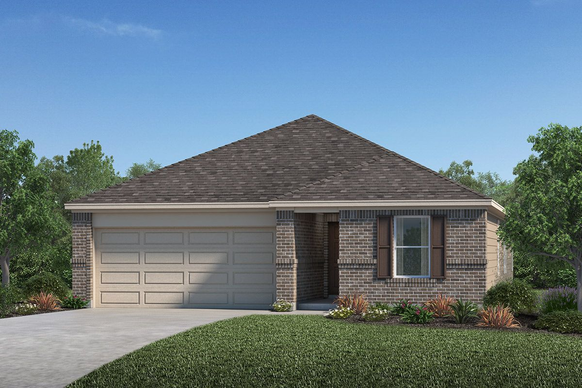 Exterior featured in the Plan 1889 Modeled By KB Home in Houston, TX