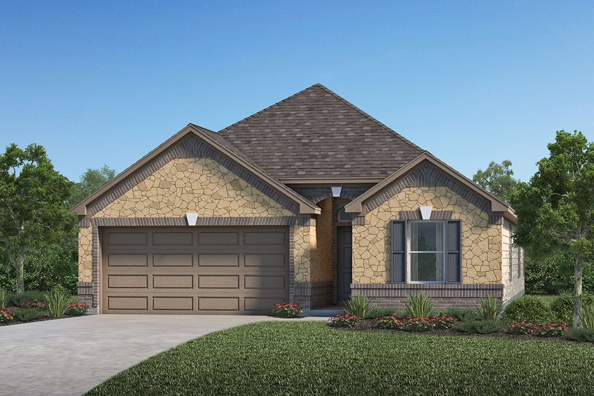 Exterior featured in the Plan 1944 By KB Home in Houston, TX