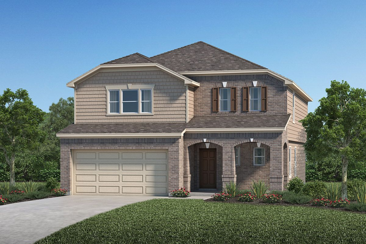 Exterior featured in the Plan 2372 By KB Home in Houston, TX