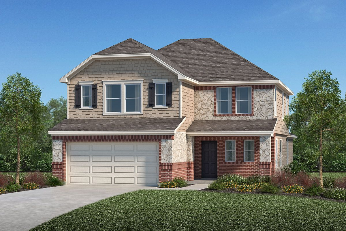 Exterior featured in the Plan 2596 By KB Home in Houston, TX