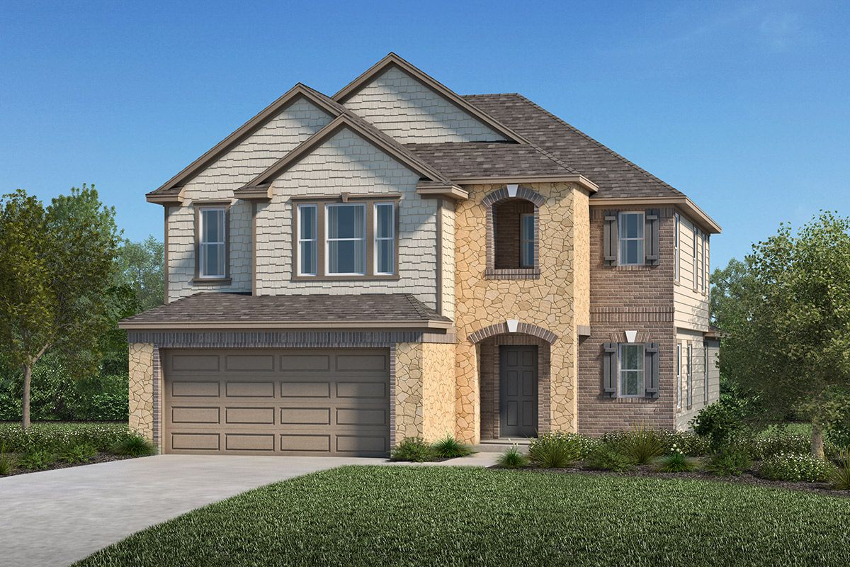Exterior featured in the Plan 2596 Modeled By KB Home in Houston, TX