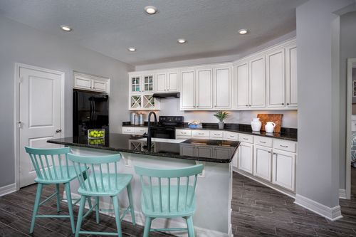 Kitchen In The Highland Modeled At Cypress Landings West