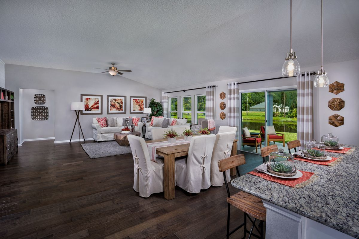 Greatroom-and-Dining-in-The Covington Modeled-at-Mill Creek Plantation-in-Saint Johns