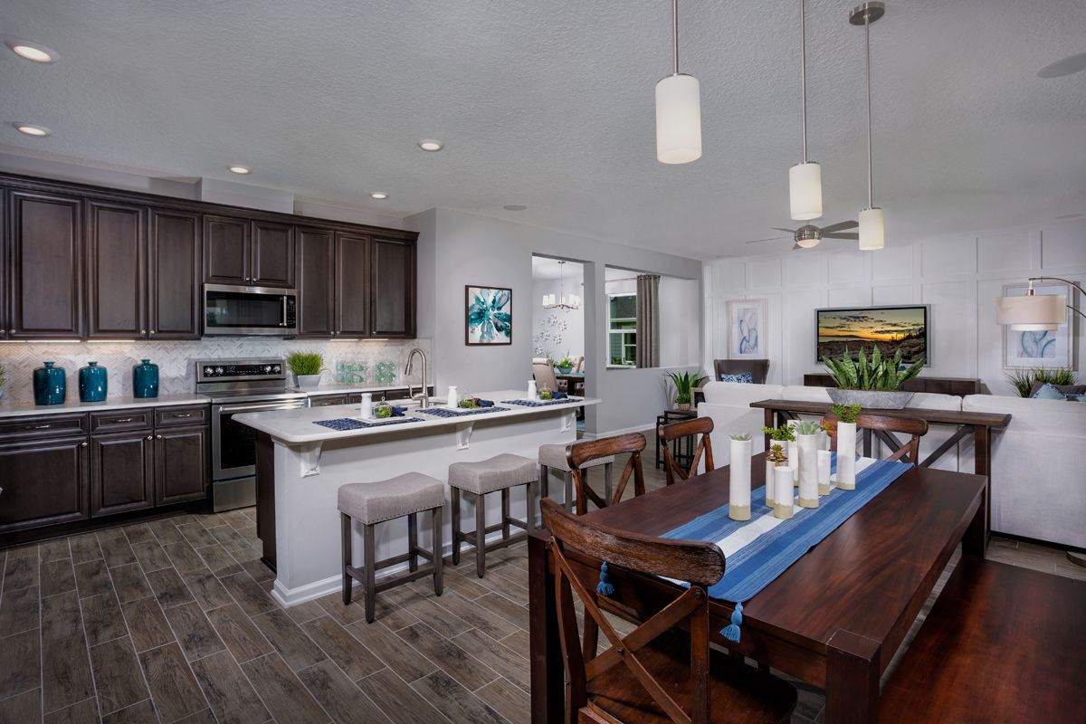 Kitchen-in-The Palm Modeled-at-Mill Creek Plantation-in-Saint Johns