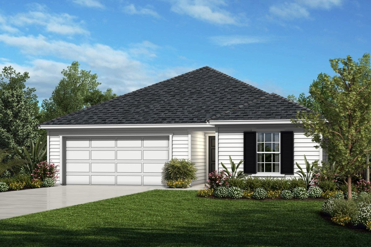 Exterior featured in the Plan 1541 By KB Home in Jacksonville-St. Augustine, FL