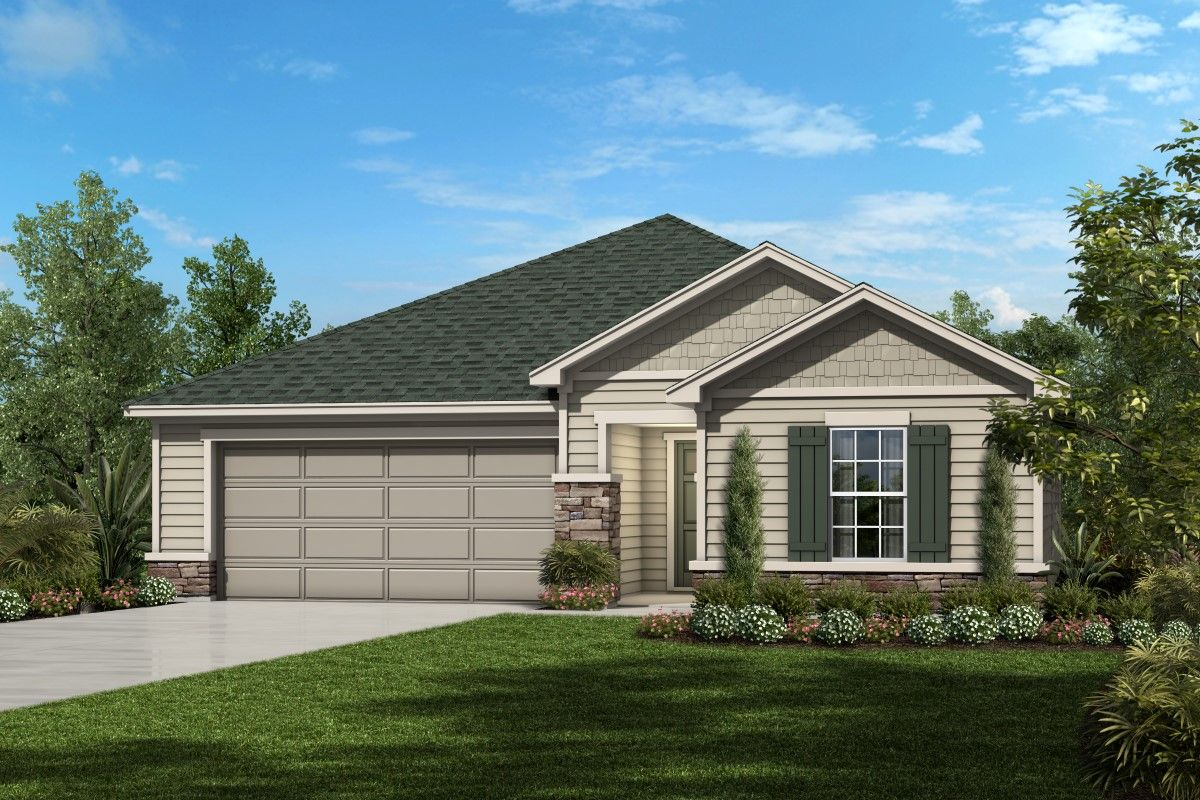 Exterior featured in the Plan 1541 Modeled By KB Home in Jacksonville-St. Augustine, FL