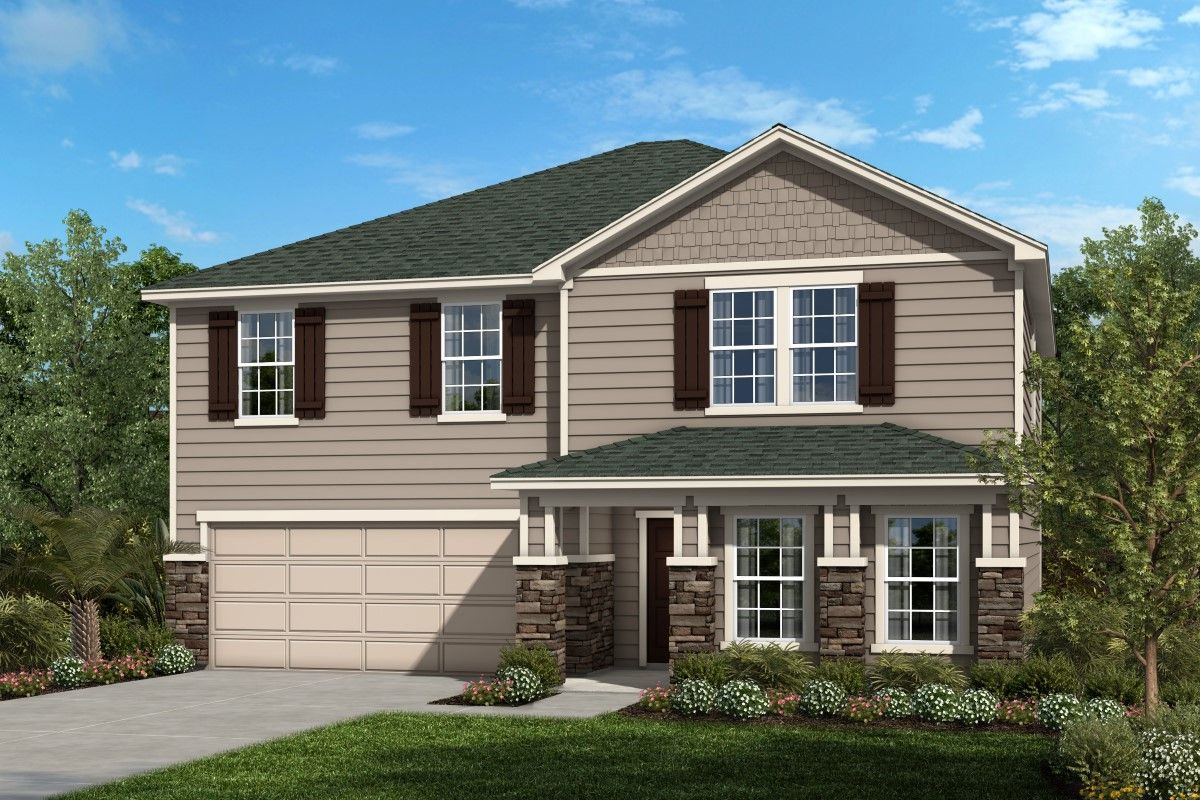 Exterior featured in the Plan 2566 By KB Home in Jacksonville-St. Augustine, FL