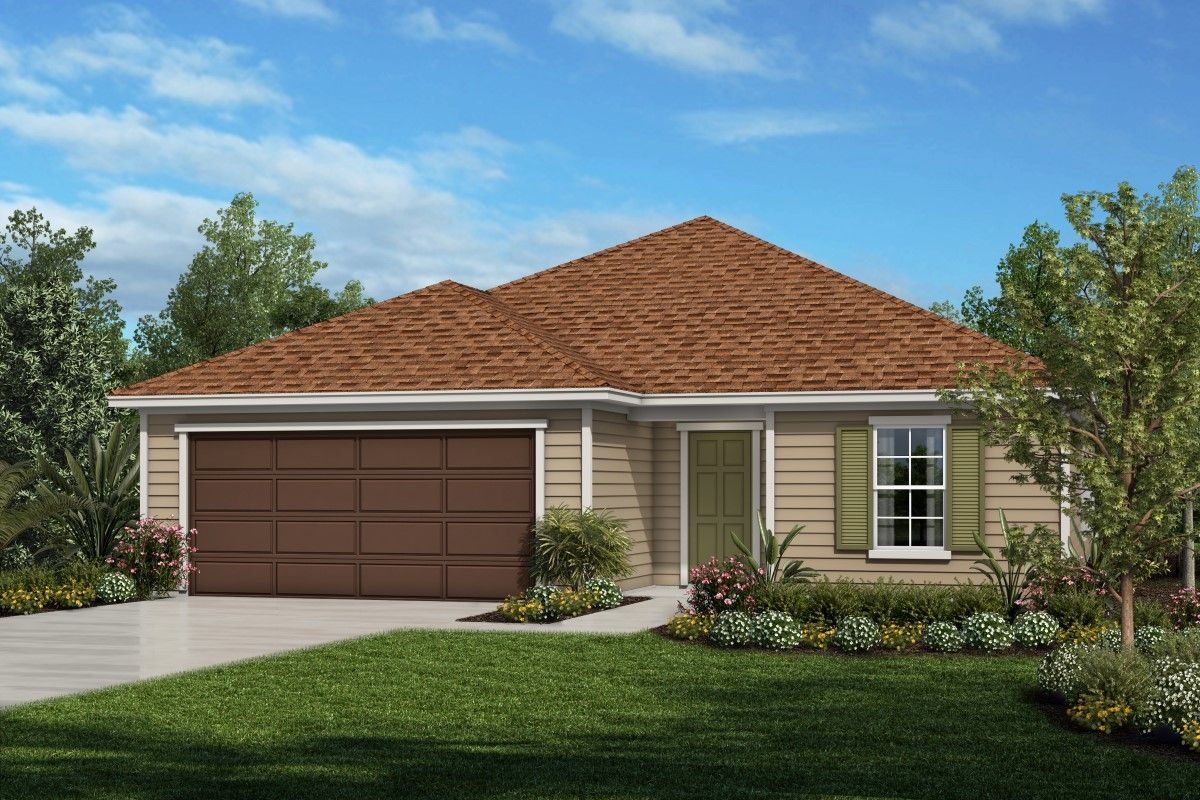 Exterior featured in the Plan 2236 By KB Home in Jacksonville-St. Augustine, FL