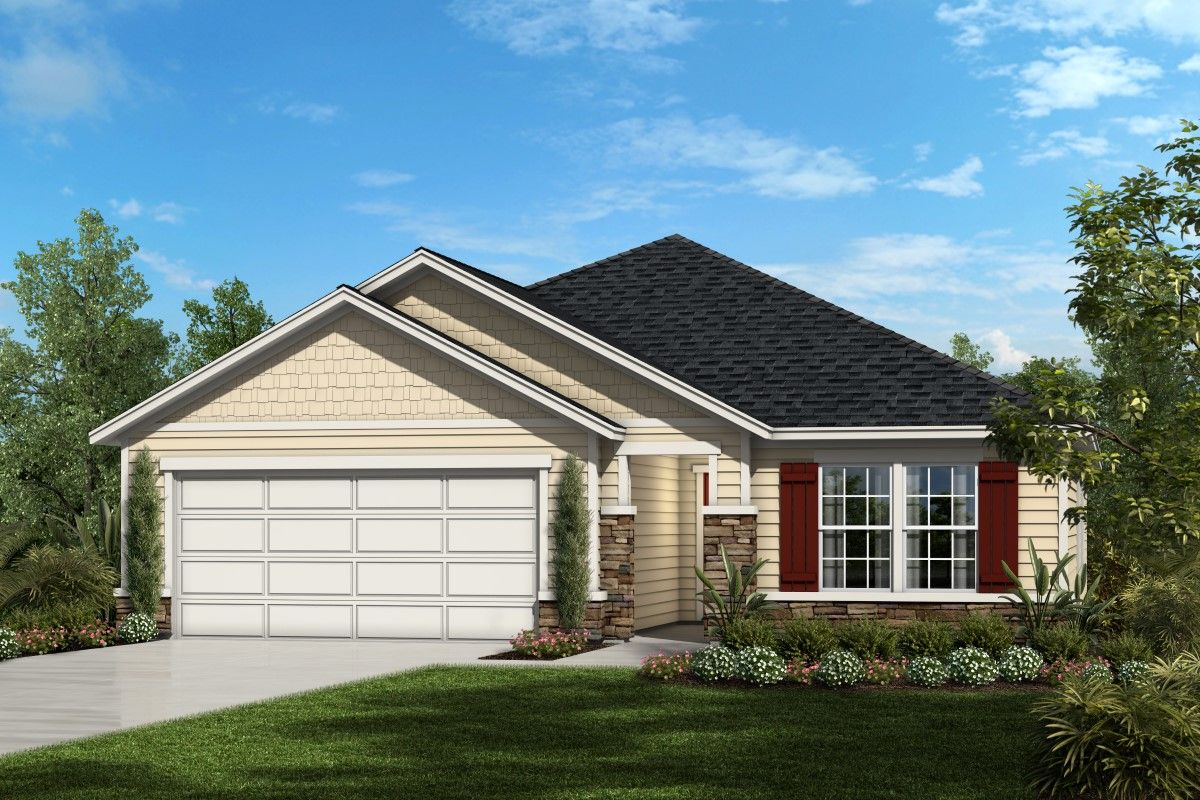 Exterior featured in the Plan 1707 Modeled By KB Home in Jacksonville-St. Augustine, FL