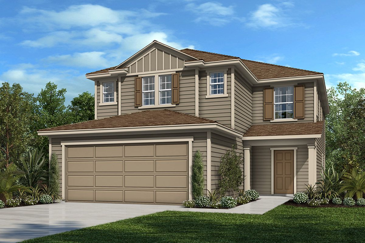 Exterior featured in the Plan 2387 By KB Home in Jacksonville-St. Augustine, FL
