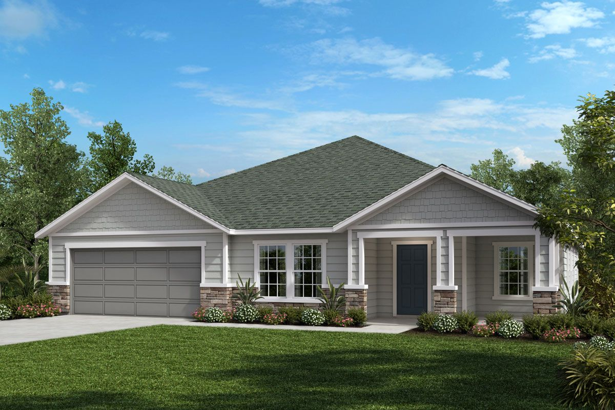 Exterior featured in The Amelia By KB Home in Jacksonville-St. Augustine, FL