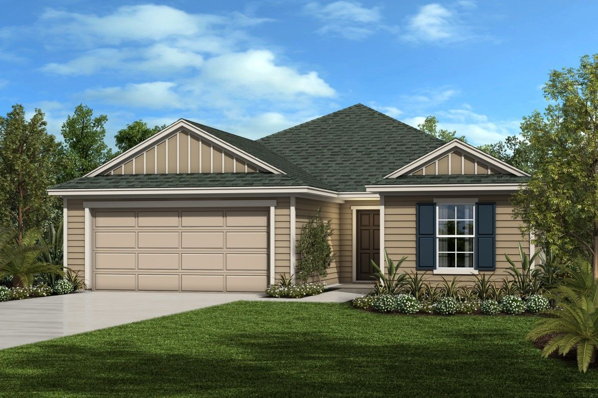 Exterior featured in the Plan 1933 By KB Home in Jacksonville-St. Augustine, FL