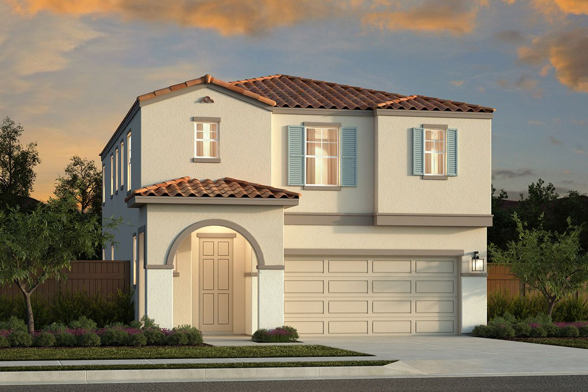 Exterior featured in the Plan 2057 Modeled By KB Home in Sacramento, CA