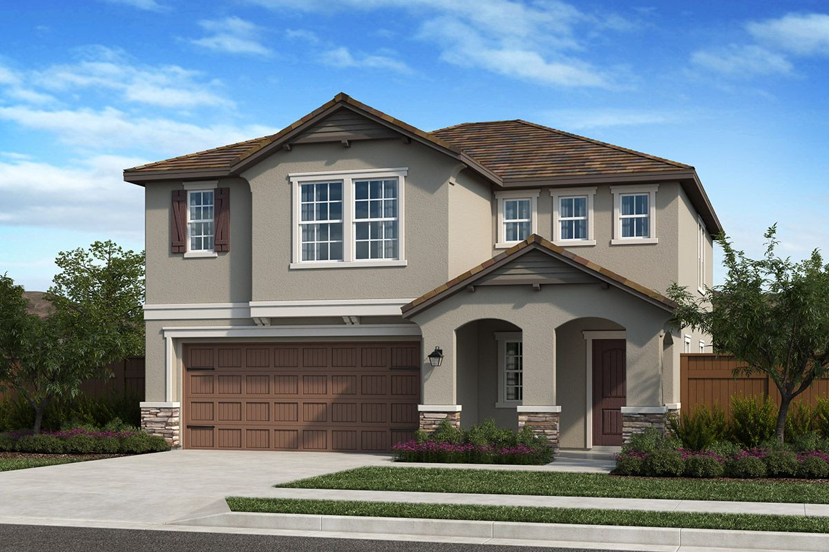 Exterior featured in the Plan 2278 By KB Home in Sacramento, CA