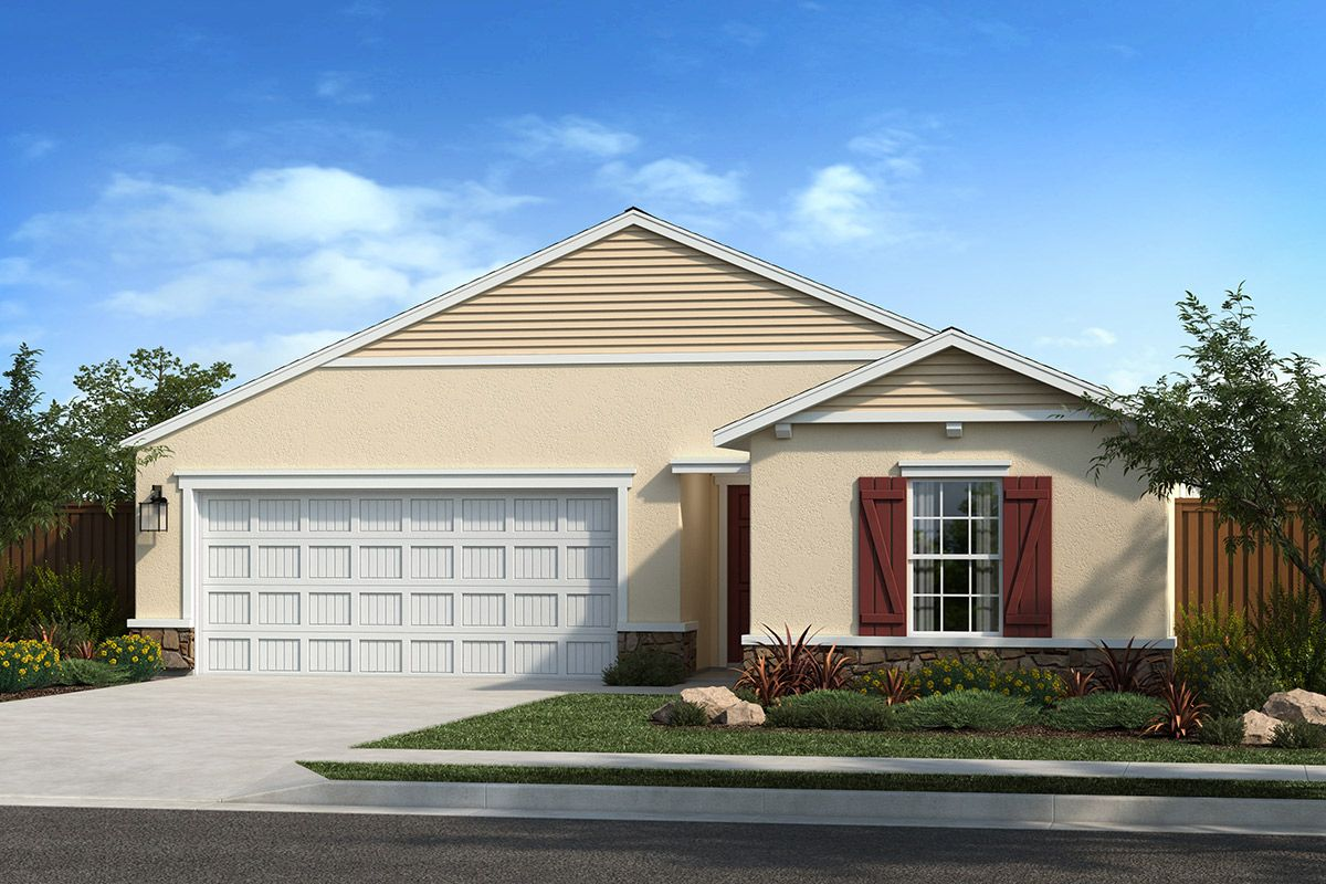 Exterior featured in the Plan 1432 By KB Home in Sacramento, CA