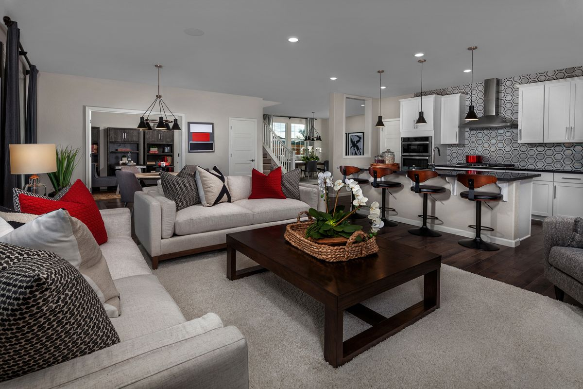 Greatroom-and-Dining-in-Plan 3061 - Modeled-at-Montevello-in-Stockton