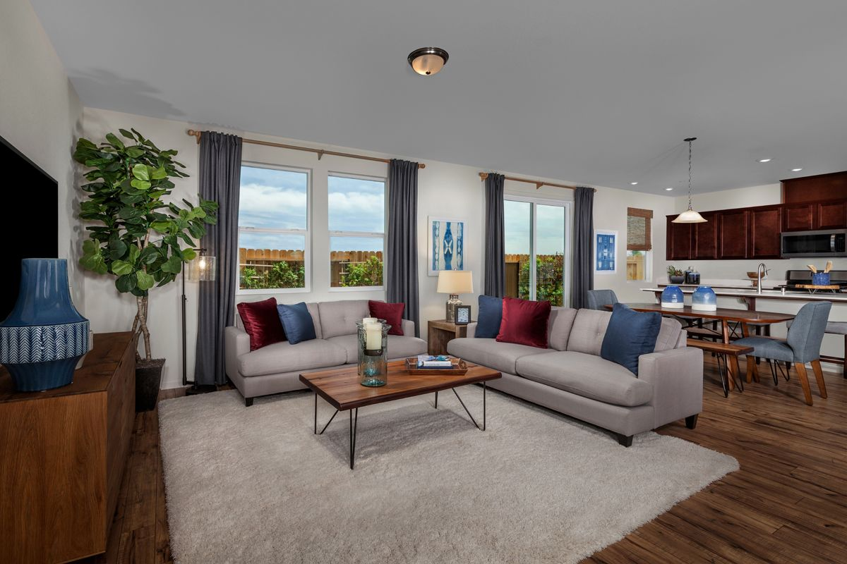Greatroom-and-Dining-in-Plan 2091 - Modeled-at-Belluno-in-Stockton