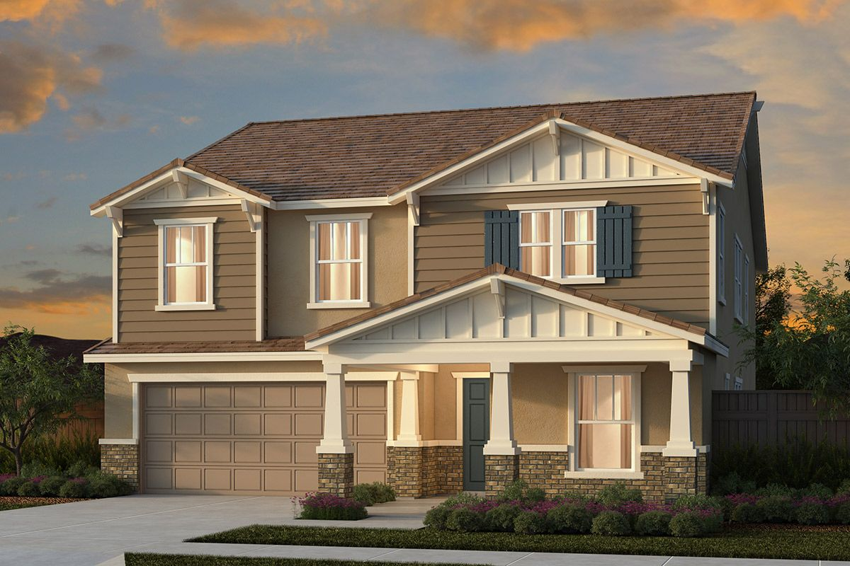 Exterior featured in the Plan 3061 By KB Home in Stockton-Lodi, CA