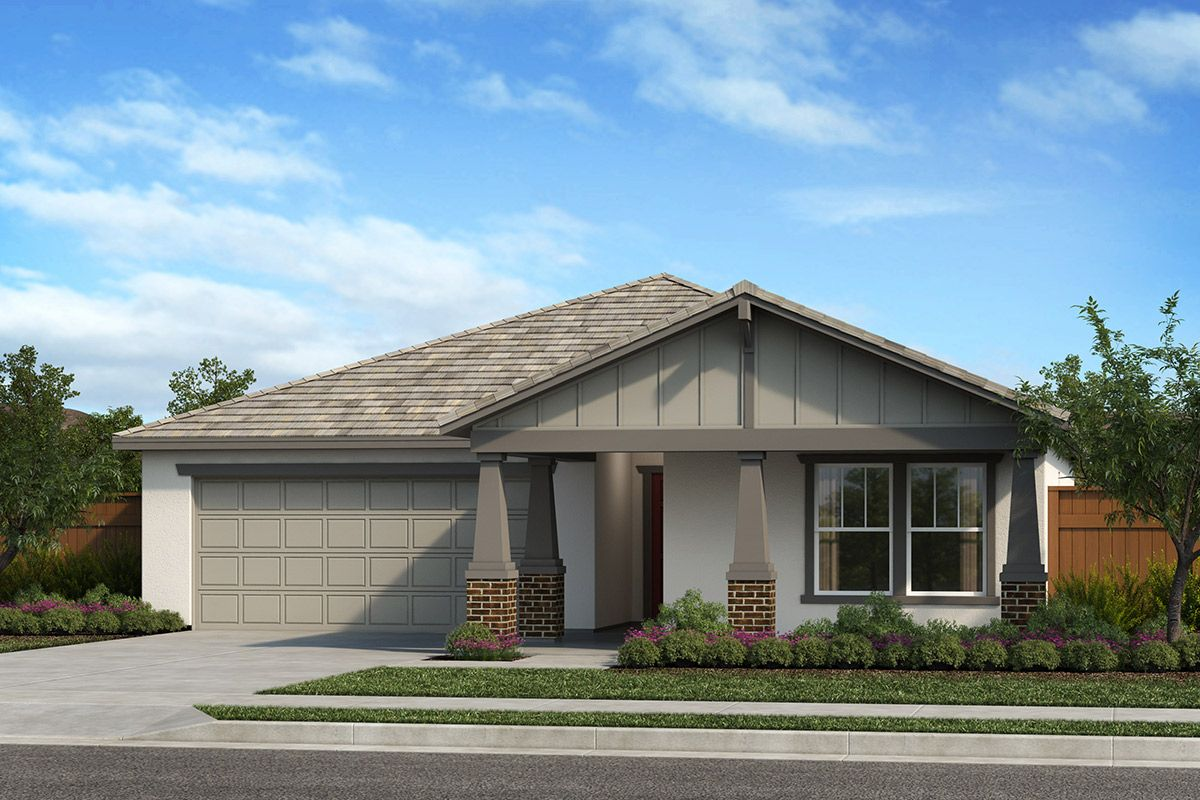 Exterior featured in the Plan 1450 Modeled By KB Home in Modesto, CA