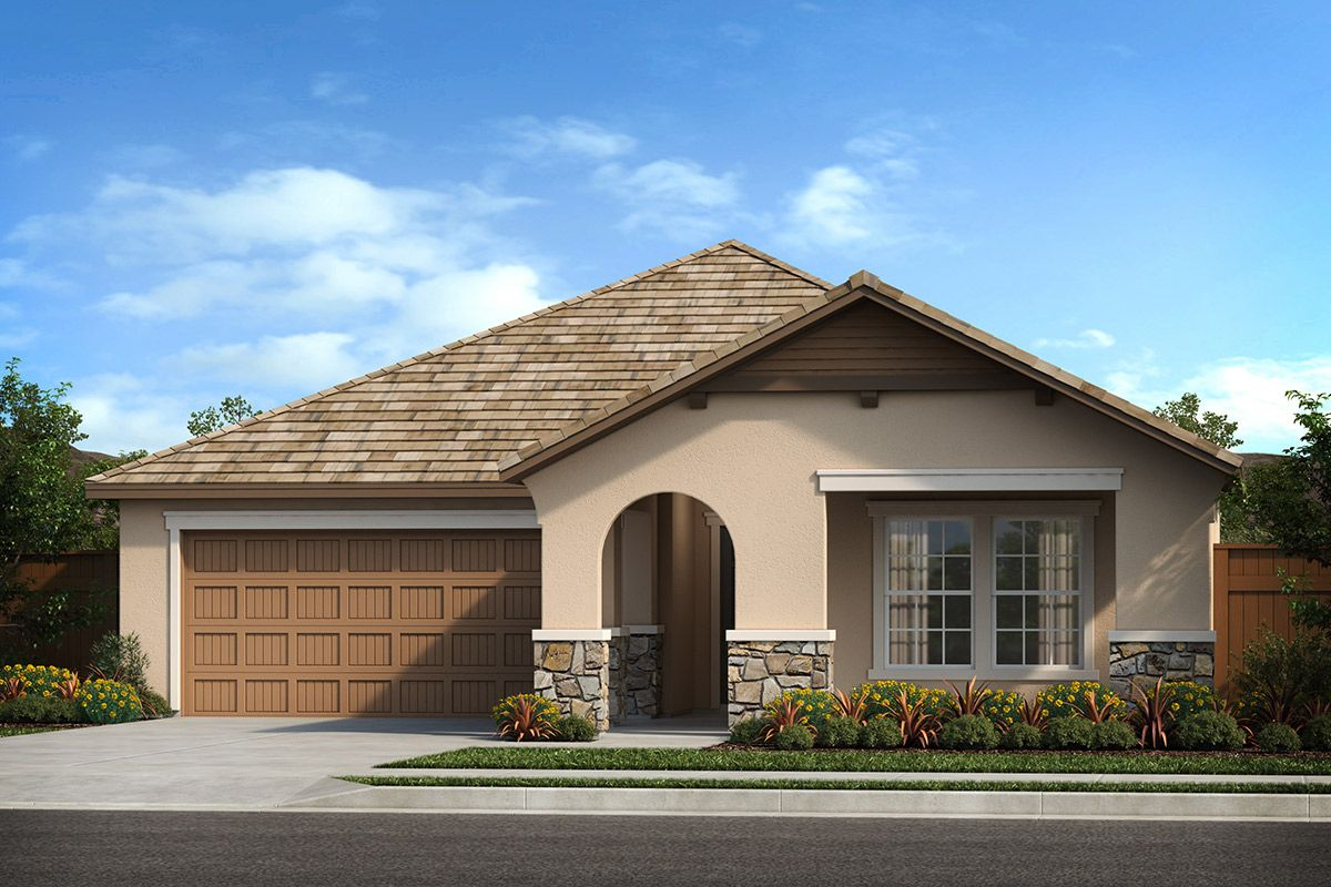 Exterior featured in the Plan 1769 By KB Home in Modesto, CA